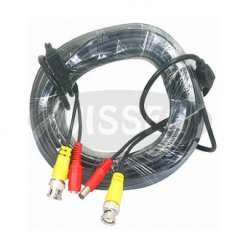 15 Meter(49ft) Power and Video CCTV Cable Male BNC Plug for Security CCTV