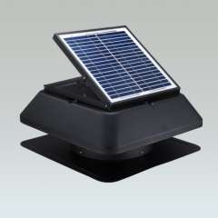 High efficiency 15W solar exhaust fan with thermostat and brush\brushless motor