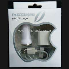 3 in 1 Travel Kit for iPhone 4 & 4S ......(mini usb charger)