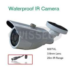 Security 600TVL 3.6mm Board Lens 20pcs Leds Outdoor Waterproof IR CCTV D\N Camera