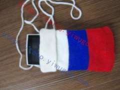 Russia Russian flag pattern knit cell phone bag fashion flag pattern digital protective sleeve The Russia Federation