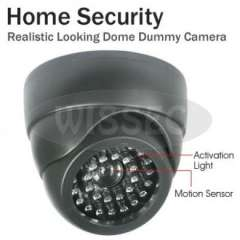 Realistic Looking Dome Security CCTV Fake Dummy Camera with Blinking LEDs