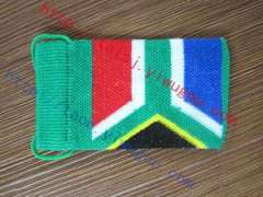 Fashion South African flag pattern knit cell phone package personality The Republic of South Africa flag jacquard protective sleeve