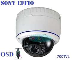 New security !700TVL Effio Sony CCTV Varifocal lens Outdoor Dome camera 2.8-12mm lens IR Camera, + Free shipment