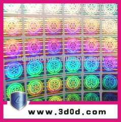 3D hologram sticker anti-fake holographic labels