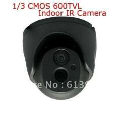 Home CCTV 1\3 CMOS 600TVL Day and Night Indoor Security Array IR Dome Camera