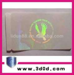 Customized design 2d\3d hologram sticker\anti-fake labels