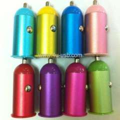 Metal USB Car Charger for iPhone 5 \ iPhone 4 \ iPod Touch