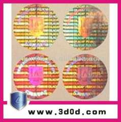 3D security Holographic sticker\anti-fake hologram label