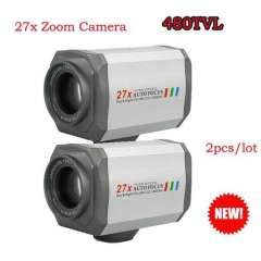 Security CCTV 27 Multiple Optical Zoom SONY CCD 480TVL Day&Night\RS485, 2PCS\lot