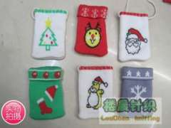Santa Claus | Reindeer | Christmas hats | snowflake | Christmas Bear | Christmas tree pattern knit cell phone bag