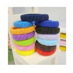 Color seamless high elastic hair band color towel | Random Color