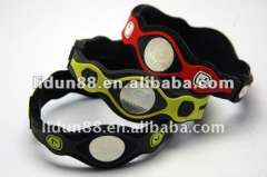 silicone rubber ion wristband health bracelets for men