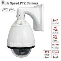 Security CCTV 6 inch 27X 480TVL 256 Preset 3.2-86.4mm Focal Lens High Speed CCD Color Chip PTZ Camera