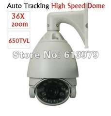CCTV security 650TVL 36X Optical Zoom 3.2~115.2mm Auto Tracking High Speed Dome PTZ IR Camera Motion detection