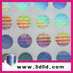 hologram sticker labels\security paper, 3d hologram holographic stickers
