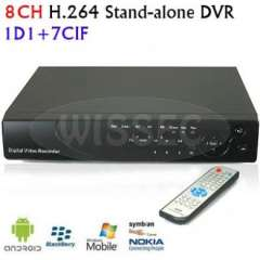 Surveillance 8CH H.264 Stand-alone Network Video CCTV DVR support Phone View