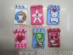 Cartoon bear | pentagram | Love pattern bunk cell phone pocket