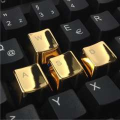 Factory direct Cherry MX axis mechanical keyboard special metal keycaps golden arrow keys WASD keys Sets