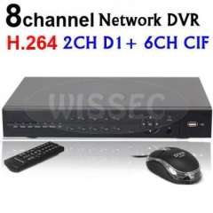 8CH H.264 Realtime network Standalone DVR Support Phone View