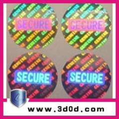 2013 customized security paypal-available hologram labels\stickers