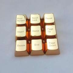 Factory wholesale metal keycaps Cherry MX mechanical axis keycap keycaps Set golden zinc alloy editor