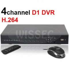 4 CH H.264 CCTV Real-time Full D1 Realtime Recording Standalone Network DVR support mobile view