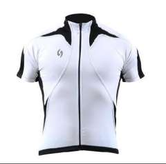 Cool sharp short-sleeved T-shirt riding / short sleeve jersey white