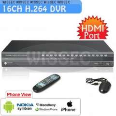CCTV Surveillance 16CH H.264 Standalone Network Video Recording DVR with HDMI Port 16CH Audio inpu