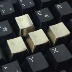 OEM factory direct metal keycaps height zinc alloy mechanical keyboard arrow keys WASD keys keycap pearl silver