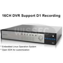 16CH Embedded DVR, Support D1 recording, phone view and PTZ Control, H.264 Video Compression