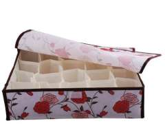 20 grid roses soft covered storage box | Random Color