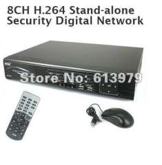 8CH Audio Video Input H.264 Security CCTV Network DVR Mobile Monitoring 8CH BNC Video Input RCA Audio Input