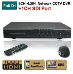 Surveillance 9CH H.264 Full D1 Realtime Recording SDI 1080P HD Port Network Standalone CCTV DVR