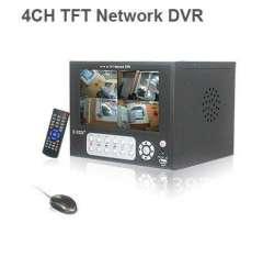 4CH H.264 Video Audio CCTV Security Standalone Network DVR 6 inch Monitor mobile phone remote surveillance