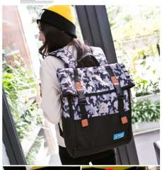 Korean female college laptop trendy camouflage backpack