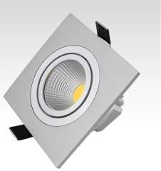 2015 Spot Free Shipping 1pcs/lot 5/7w 15w, square Model Cob Led Down Light, With 100lm/w High Brightness, 3 Years Waranty Time.