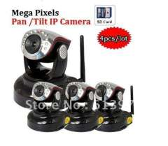 4pcs\lot, Security CCTV MegaPixel Professional H264 802.11b\g\N WIFI IP Camera, Built-in microphone
