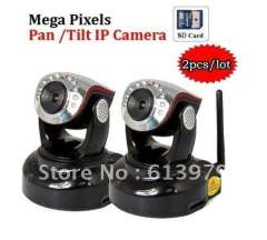 2pcs\lot, Security CCTV MegaPixel Professional H264 802.11b\g\N WIFI IP Camera, 5m distant; Built-in microphone