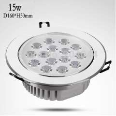 free shipping : hot sell, 2pcs/lot 15*1w led down light with 15w power, led light with cool white color down lights