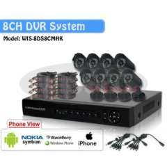 8CH H.264 Standalone Network DVR 8pcs CMOS 6mm lens Outdoor IR Camera VIdeo CCTV System Kit