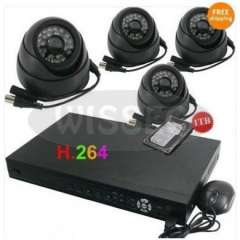 4CH NETWORK CCTV DVR HOMEH264 Security System+4 Cameras+1TB Surveillance Security Systems