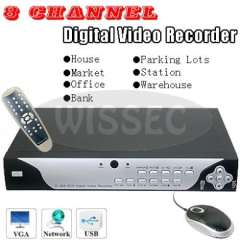 8CH Raysharp H.264 Real-Time Network Security CCTV Digital Video Recorder
