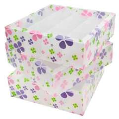 Multifunction environmental PP without lid storage box / finishing three-piece box - color Clover