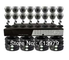 16CH Surveillance H.264 CCTV DVR+16 Waterproof Cameras Remote Security System Drop shipping