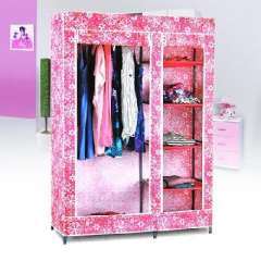 Korean fashion two-door cloth wardrobe (SJ-A1) color random