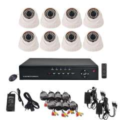 8 Channel Surveillance DVR Recorder 8 pcs 600TVL Built-in IR-CUT indoor Security Camera System