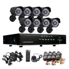 8 Channel H.264 CCTV Digital Standalone Network D1 DVR 8pcs Outdoor IR Night Vision Cmos Camera Kit system