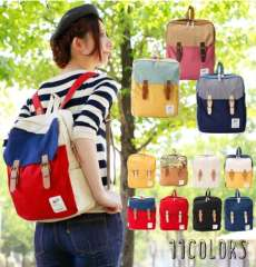 anello multilayer schoolbags backpack canvas travel