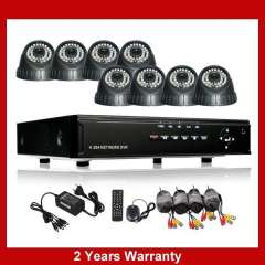 8CH camera kit and 8CH dvr security system, 420TVL IR dome night vision camera and h.264 Recorder